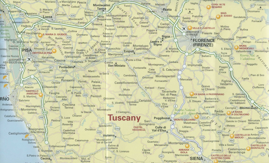Large Tuscany Maps For Free Download And Print | High-Resolution And - Printable Map Of Tuscany