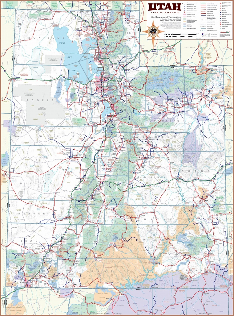 Large Utah Maps For Free Download And Print | High-Resolution And - Printable Map Of St George Utah