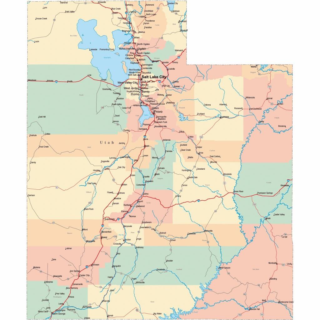 Large Utah Maps For Free Download And Print   High-Resolution And - Utah Road Map Printable