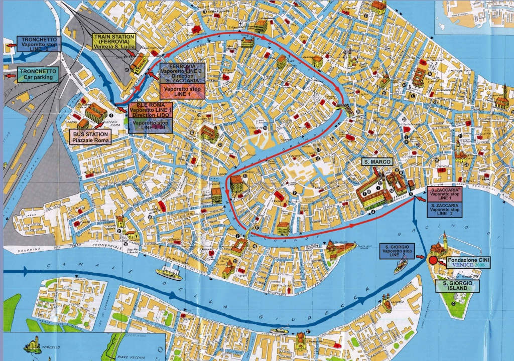 Large Venice Maps For Free Download And Print   High-Resolution And - Tourist Map Of Venice Printable