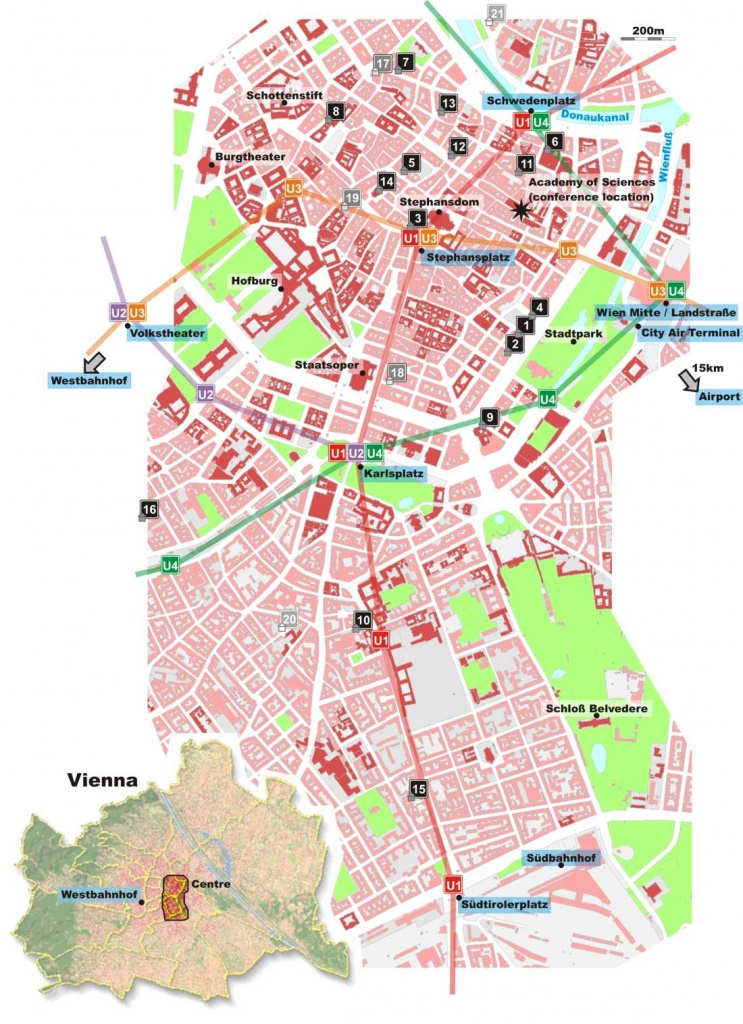 Large Vienna Maps For Free Download And Print | High-Resolution And - Vienna City Map Printable