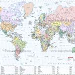 Large World Map Image   World Map With Cities Printable