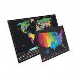 Largest Scratch Off World Map   Detailed Cartography And Country   Texas Scratch Off Map