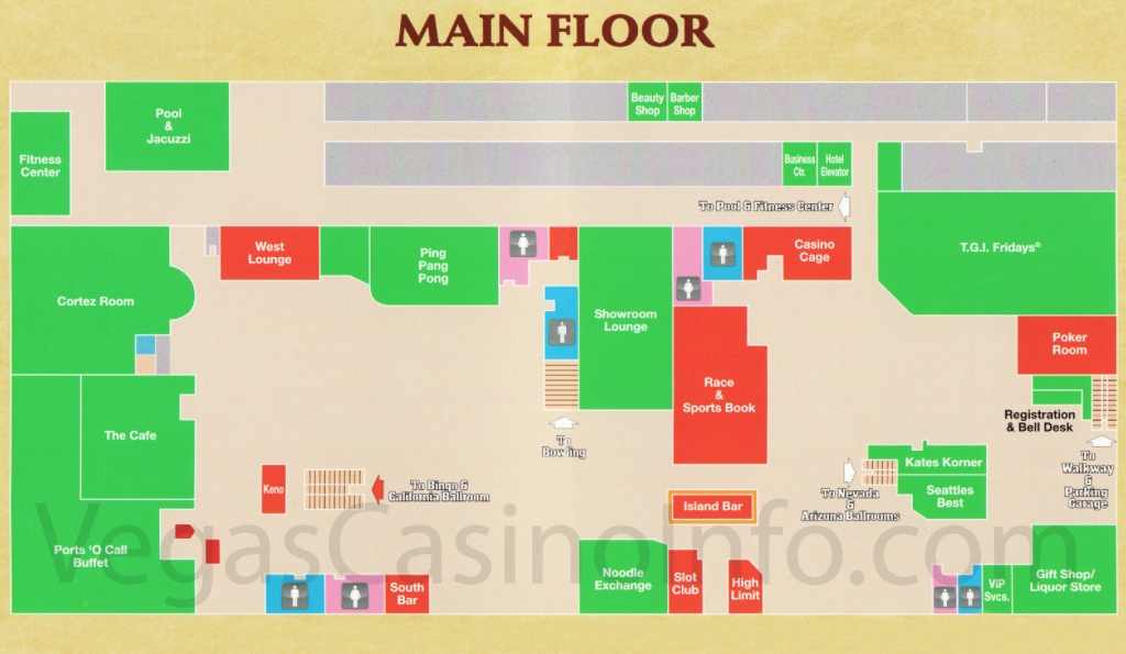 Las Vegas Casino Property Maps And Floor Plans Vegascasinoinfo Com - Northern California Casinos Map