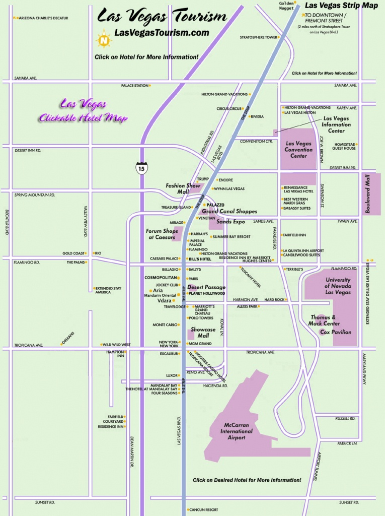 Las Vegas Map, Official Site - Las Vegas Strip Map - Printable Map Of Vegas Strip 2017