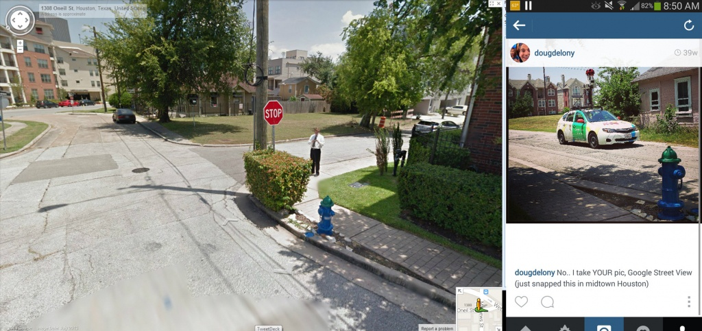 Last Summer I Took A Photo Of Google Street View Today I Finally - Google Maps Street View Houston Texas