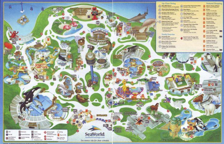 Printable Sea World San Diego Map