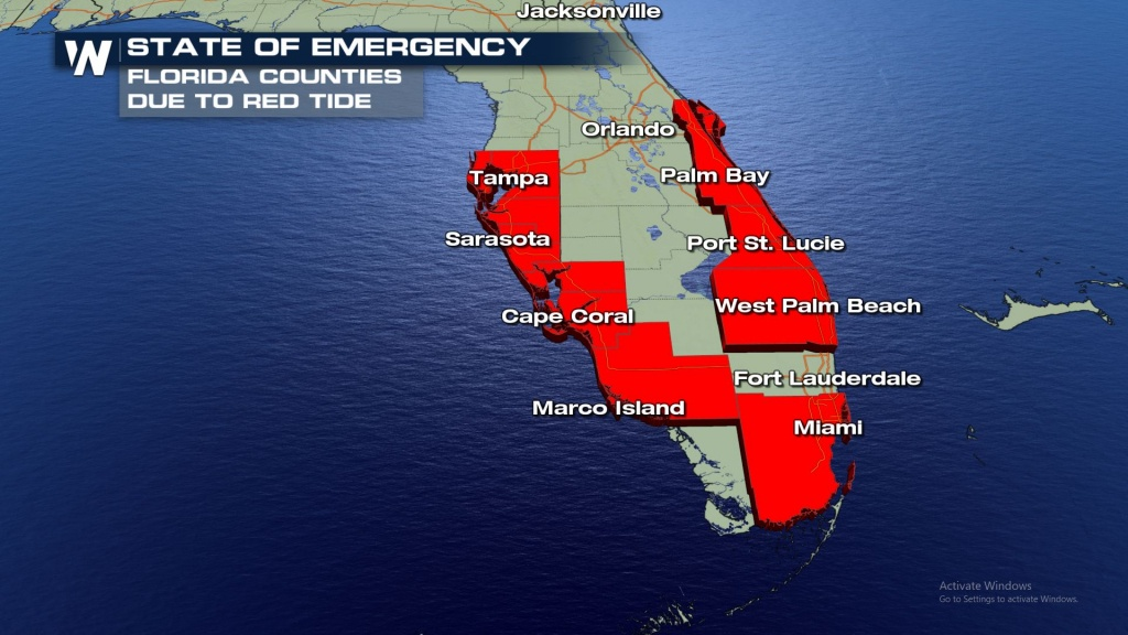 Latest Florida Red Tide Update - October 2018 - Weathernation - Current Red Tide Map Florida