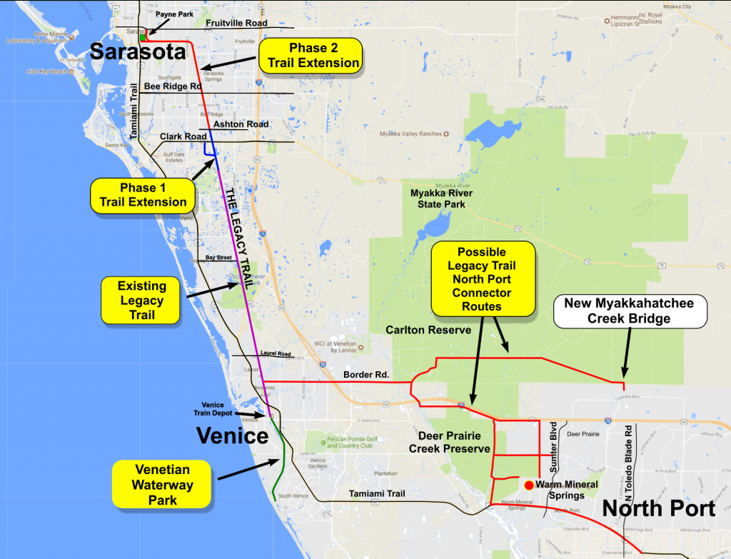 Legacy Trail Connector To North Port | Friends Of The Legacy Trail - Where Is North Port Florida On A Map