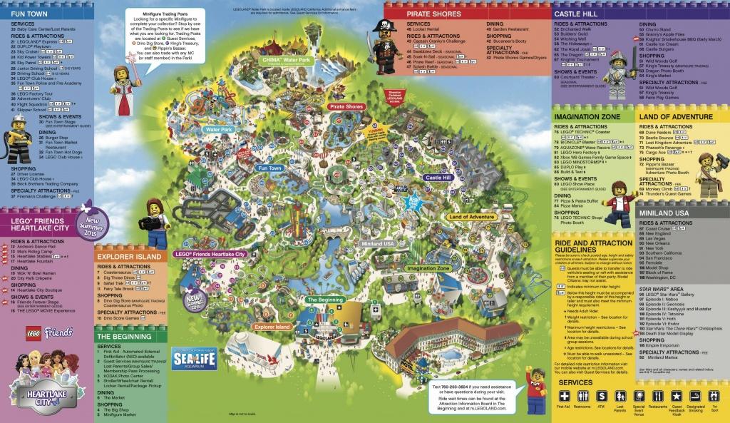 Legoland California & Sea Life Aquarium 1-Day Hopper Ticket - Free - Legoland Florida Park Map