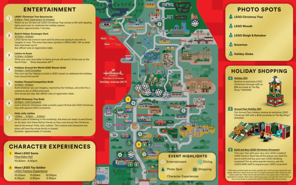 Legoland Florida Christmas Map - Coaster Kings - Christmas Florida Map