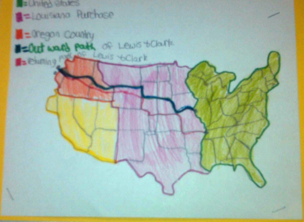 Lewis And Clark Activity   Printable File Folder Games, Other Fun - Lewis And Clark Printable Map
