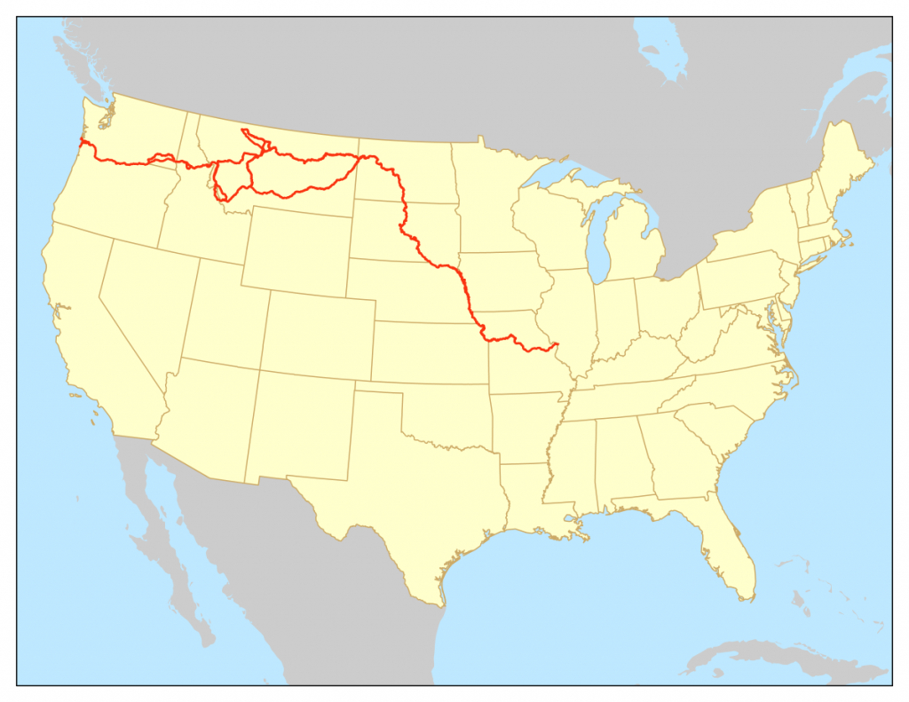 Lewis And Clark National Historic Trail - Wikipedia - Lewis And Clark Trail Map Printable