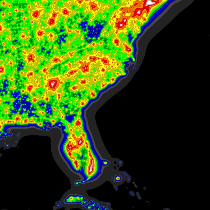 Light Pollution Map Texas