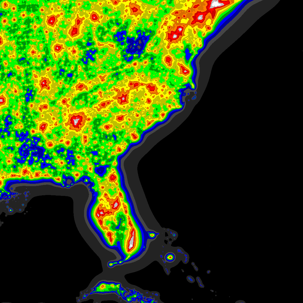 Light Pollution Map - Darksitefinder - Light Pollution Map Texas