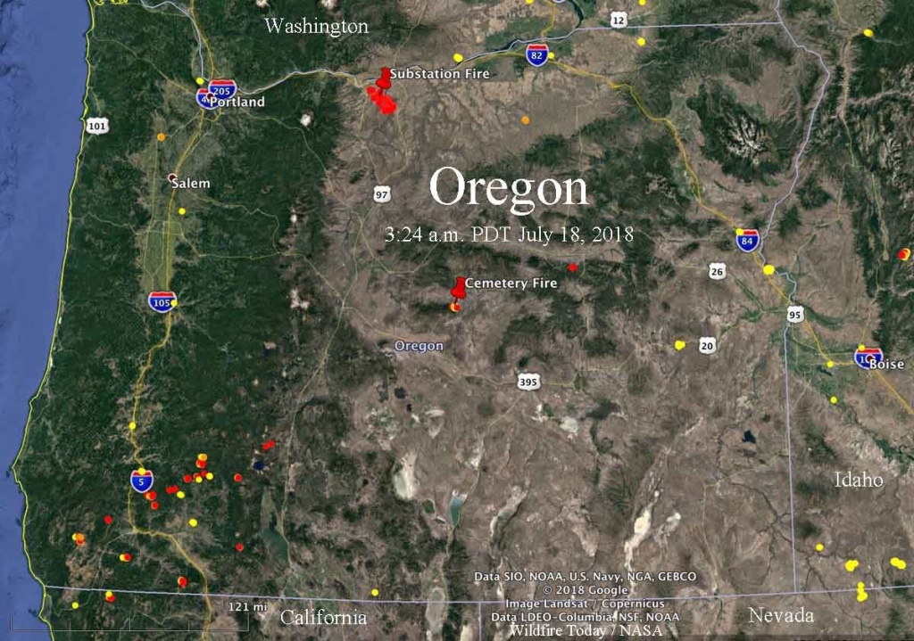 Lightning Leaves Behind Many Fires In Oregon - Wildfire Today - California Oregon Fire Map