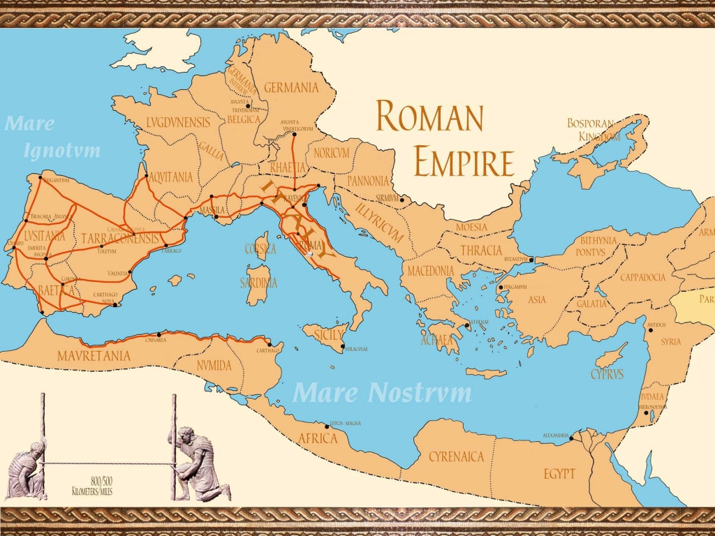 Link Library - Roman Empire Map For Kids Printable Map