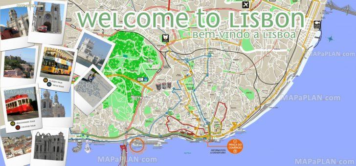 Lisbon Tourist Map Printable