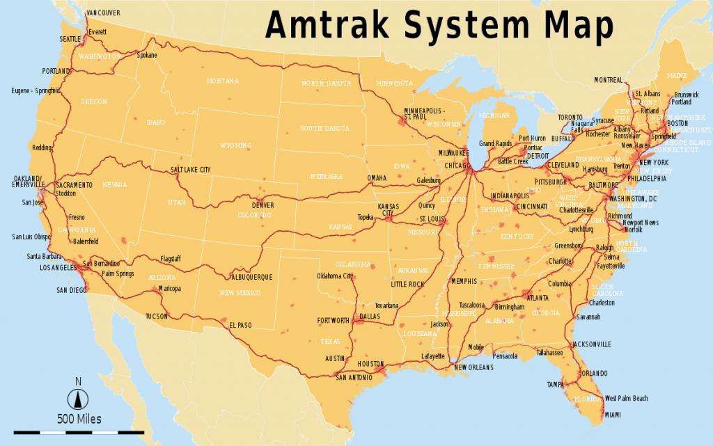 List Of Amtrak Routes - Wikipedia - Amtrak California Map