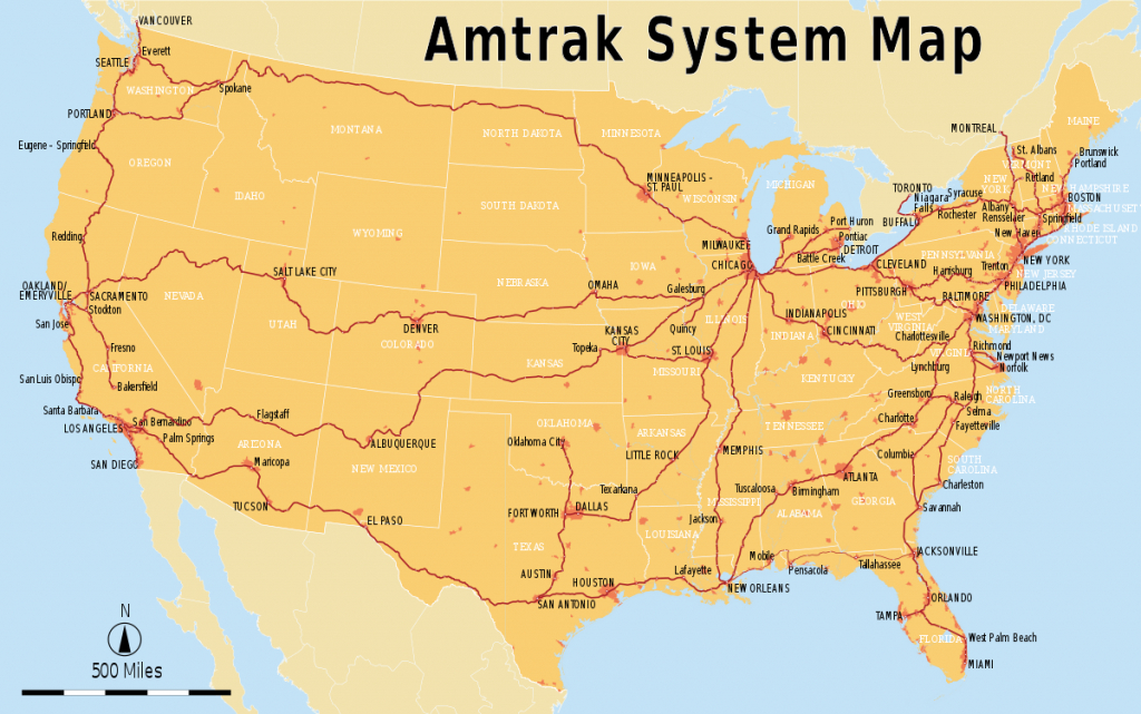List Of Amtrak Routes - Wikipedia - Amtrak Stops In California Map