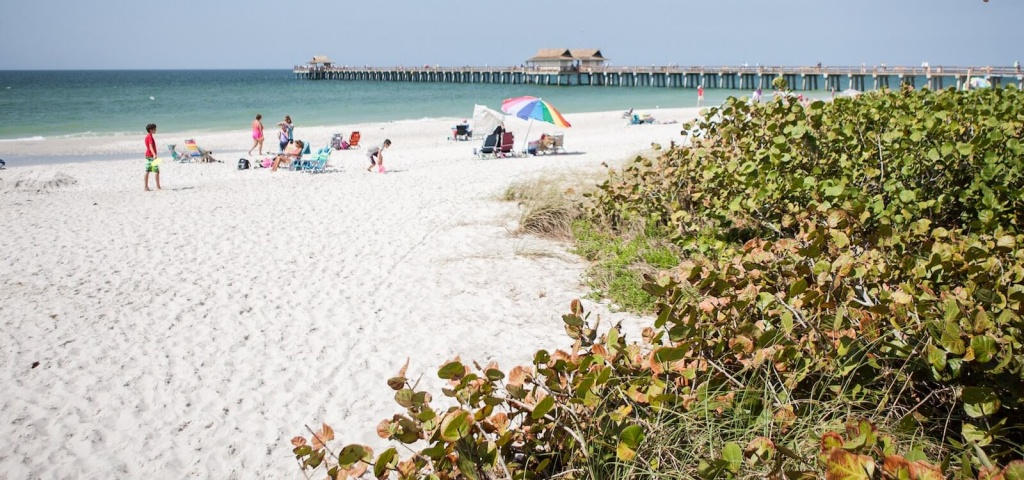 List Of Best Naples & Marco Florida Beaches   Must Do Visitor Guides - Vanderbilt Beach Florida Map