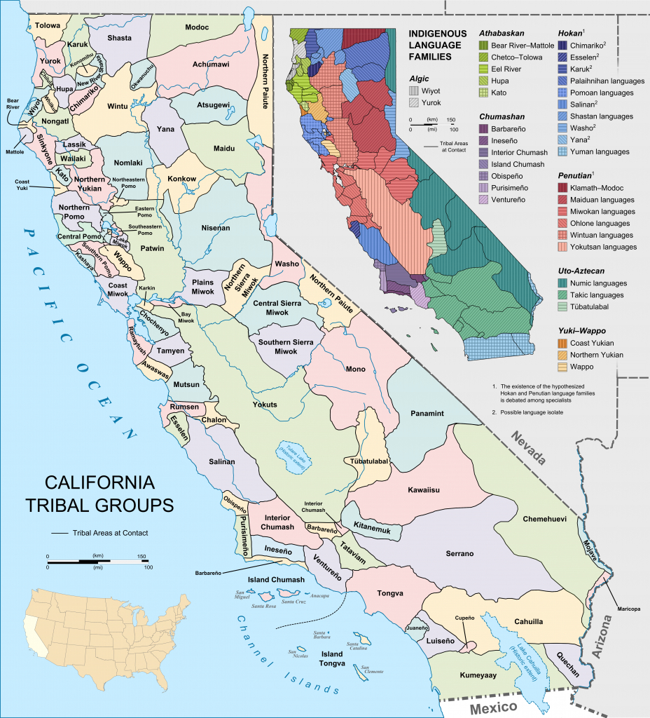 List Of Indigenous Peoples In California - Wikipedia - Southern California Native American Tribes Map