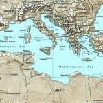 List Of Mediterranean Countries   Wikipedia   Printable Map Of The Mediterranean Sea Area