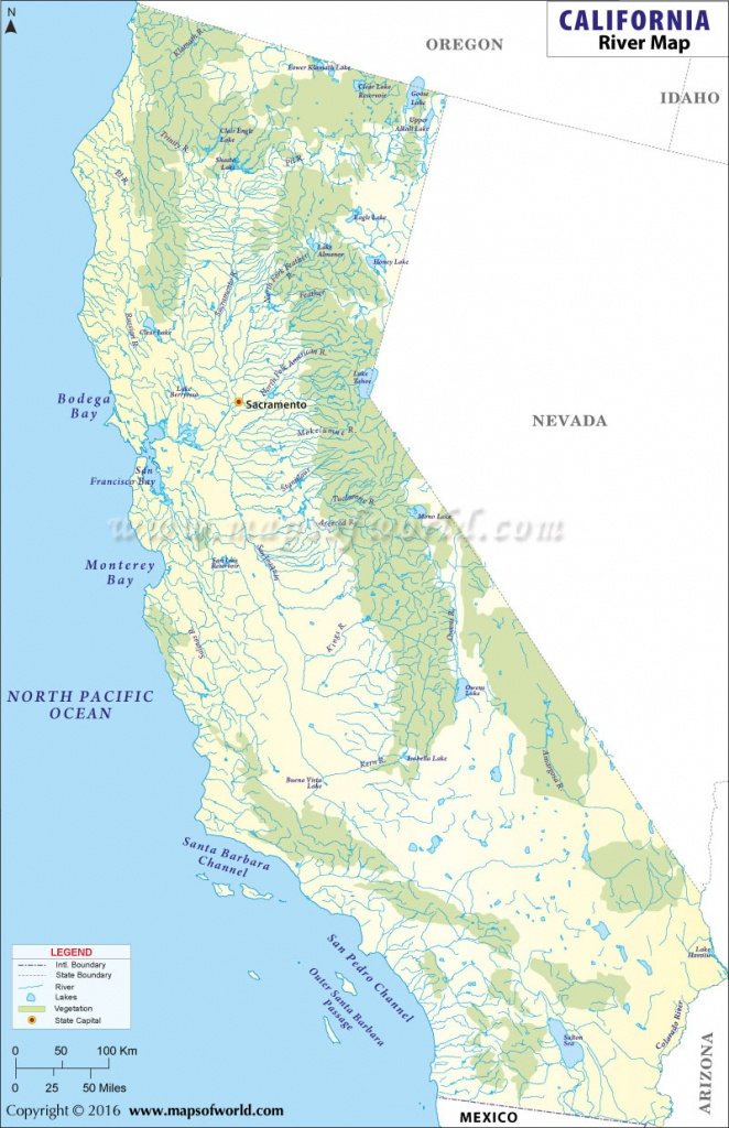 List Of Rivers In California   California River Map - Southern California Rivers Map