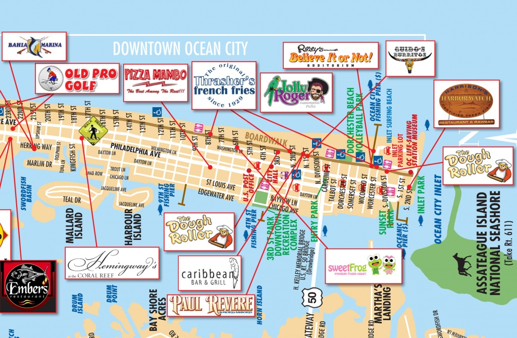 List Of Synonyms And Antonyms Of The Word: Ocean City Map - Printable Street Map Ocean City Nj
