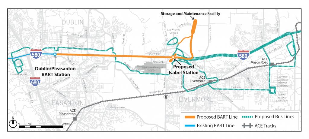 Livermore Extension   Bart.gov - Map Of Dublin California Area