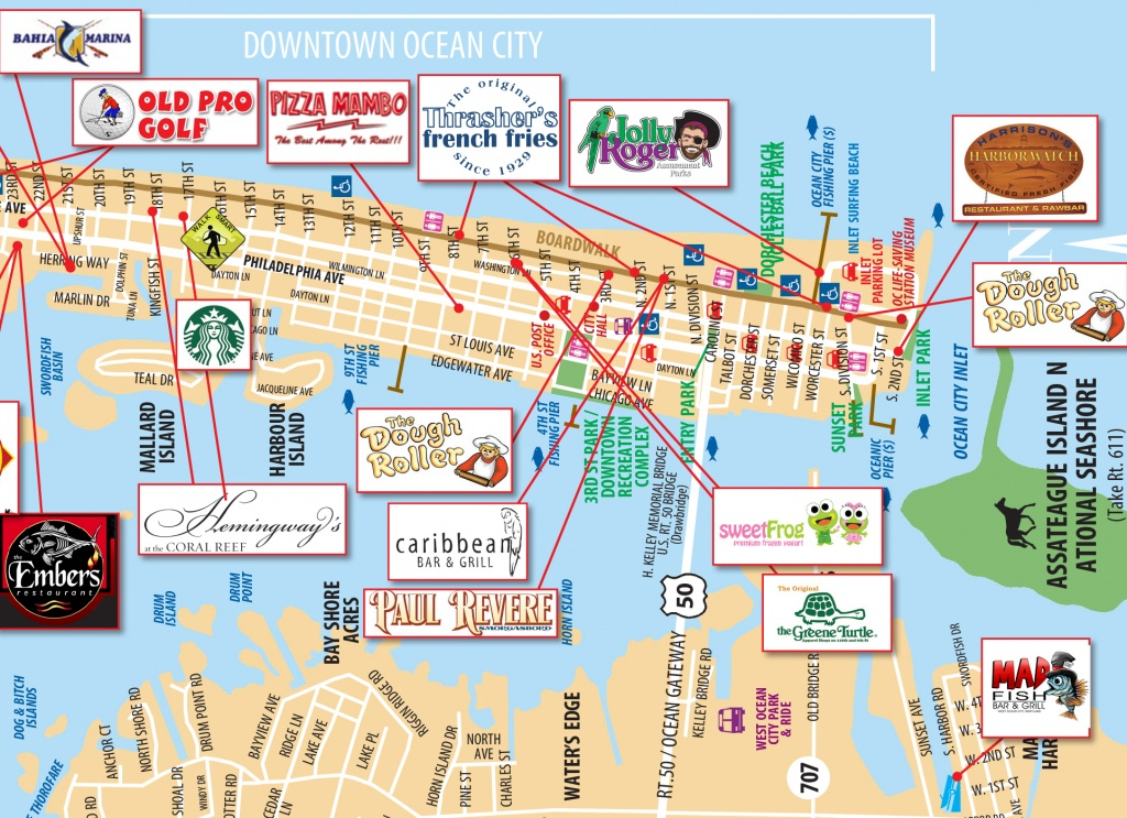 Local Maps   Ocean City Md Chamber Of Commerce - Printable Local Street Maps