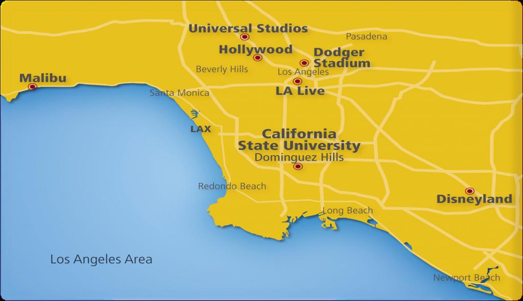 Location And Climate   Csudh Ceie International   Carson, Ca - Carson California Map