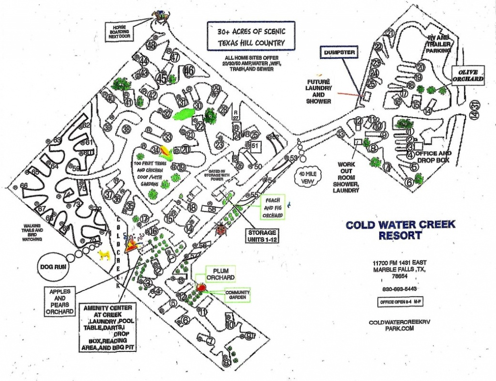 Location And Rv Park Map - Coldwater Creek Rv Park - South Texas Rv Parks Map