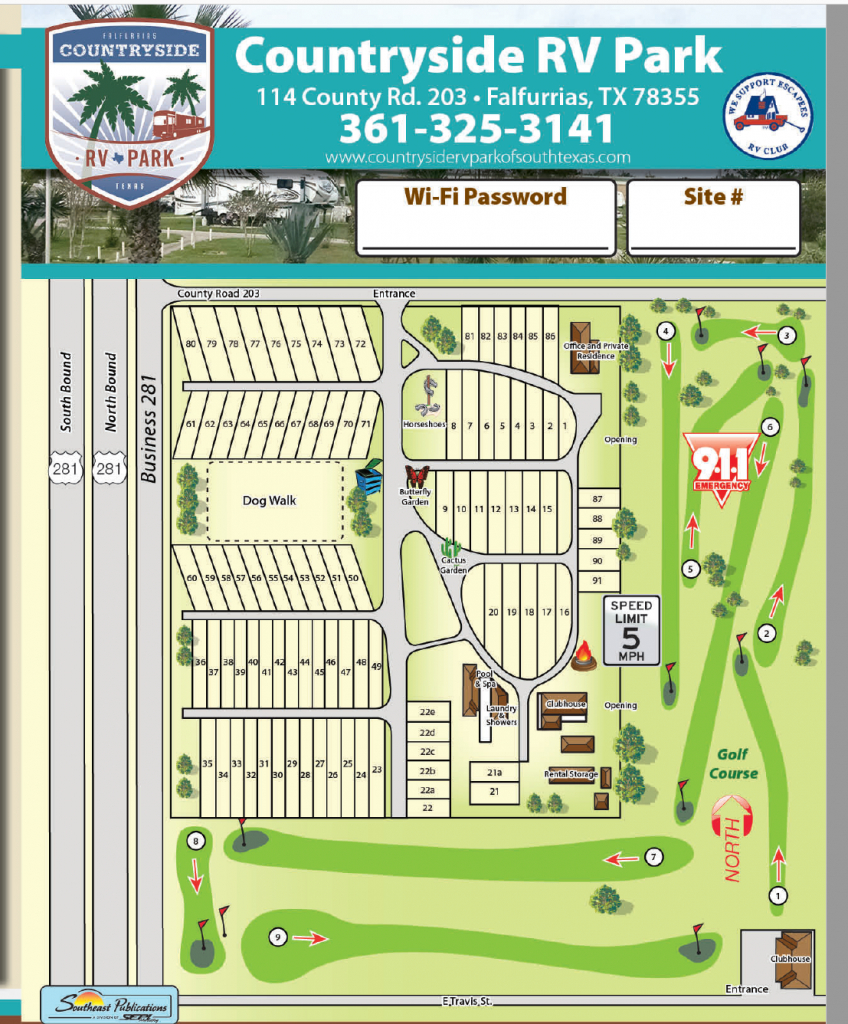 Location & Local Area - Countryside Rv Park Of South Texas - South Texas Rv Parks Map