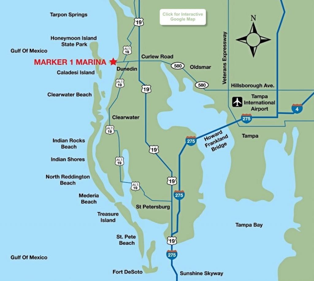 Location Map - Marker 1 Marina - Google Maps Dunedin Florida
