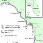 Location Map Of Florida Big Bend Marsh Coast On The Gulf Of Mexico   Florida Gulf Coastline Map
