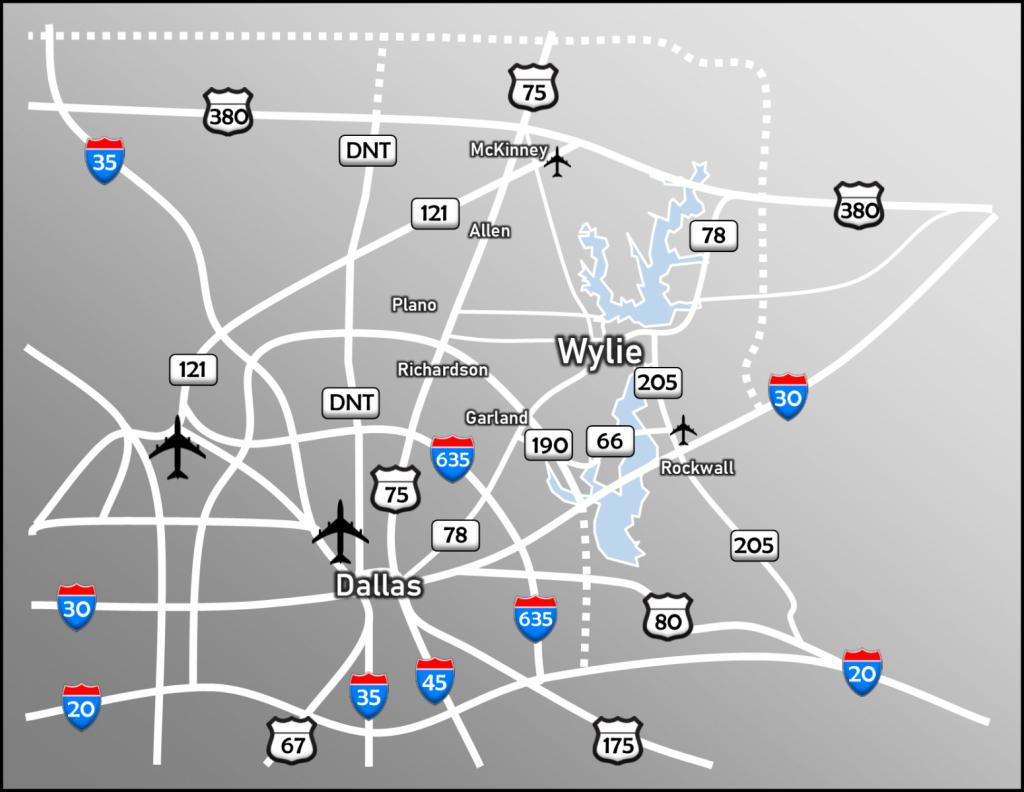 Location & Transportation | Wylie, Tx - Wylie Texas Map