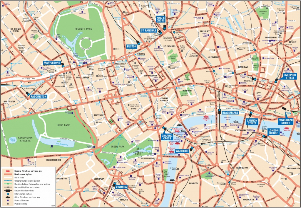 London Attractions Map Pdf - Free Printable Tourist Map London - Map Of London Attractions Printable