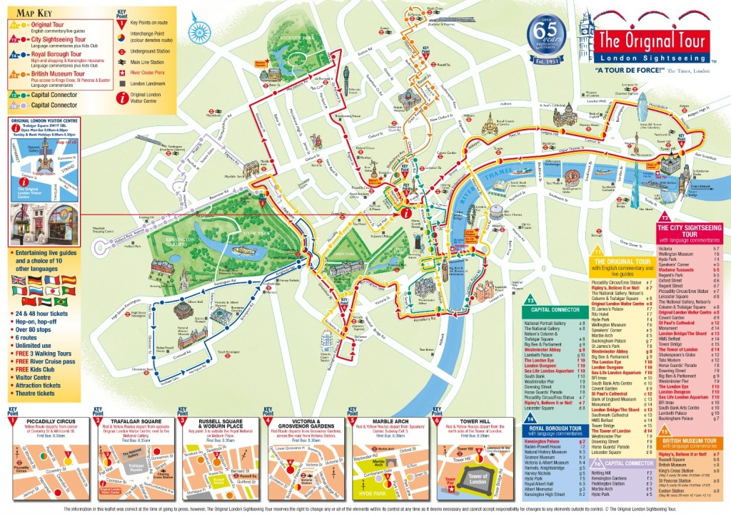 London Attractions Map Pdf - Free Printable Tourist Map London - Printable Tourist Map Of London Attractions