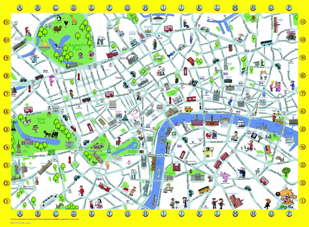London Detailed Landmark Map | London Maps - Top Tourist Attractions - Printable Street Map Of London