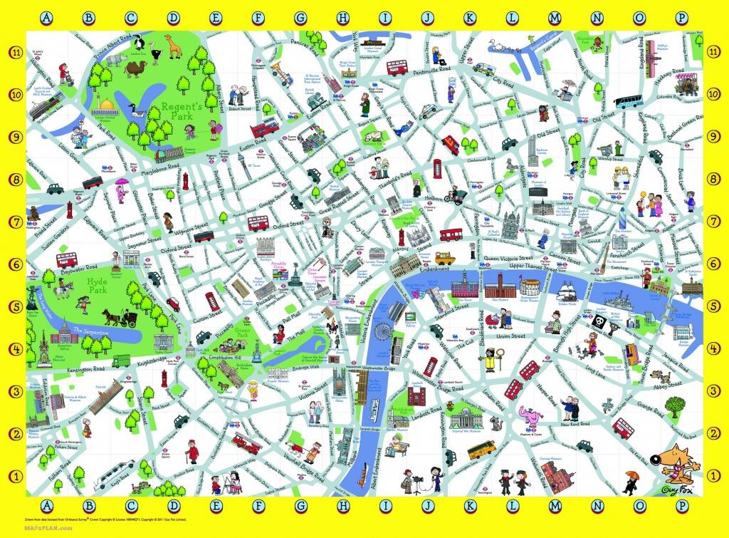 London Detailed Landmark Map | London Maps - Top Tourist Attractions - Printable Street Maps Free