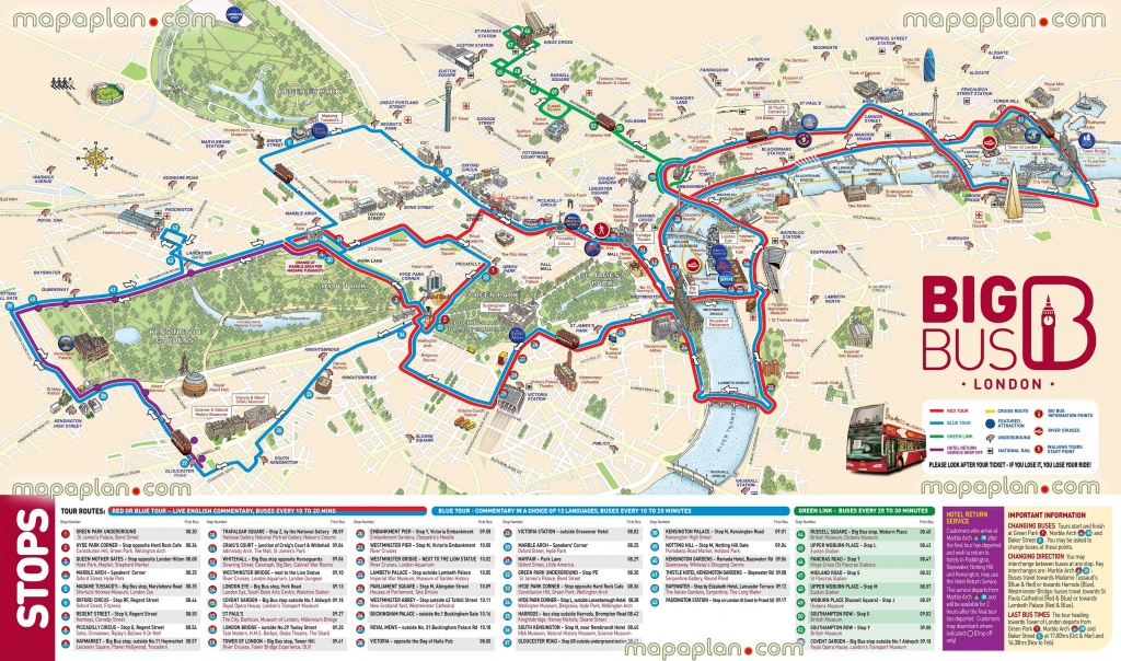 London Maps - Top Tourist Attractions - Free, Printable City Street - London Sightseeing Map Printable