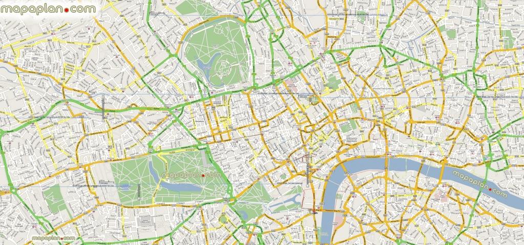 London Maps – Top Tourist Attractions – Free, Printable City Street - Printable Google Maps