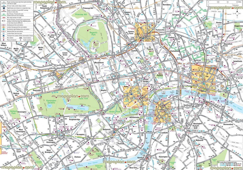 London Maps – Top Tourist Attractions – Free, Printable City Street - Printable Street Maps Free