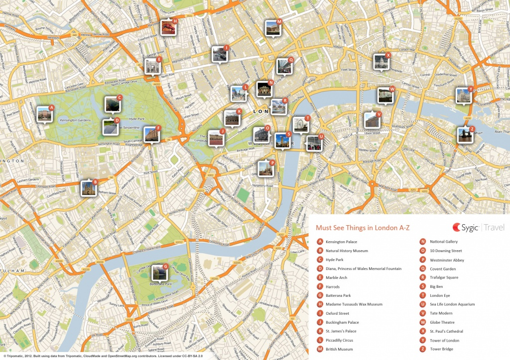 London Printable Tourist Map | Sygic Travel - Printable Tourist Map Of London Attractions