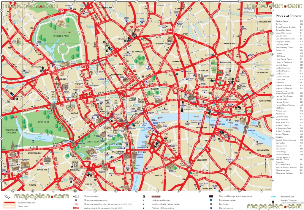London Top Tourist Attractions Printable City Street Map - Printable City Street Maps