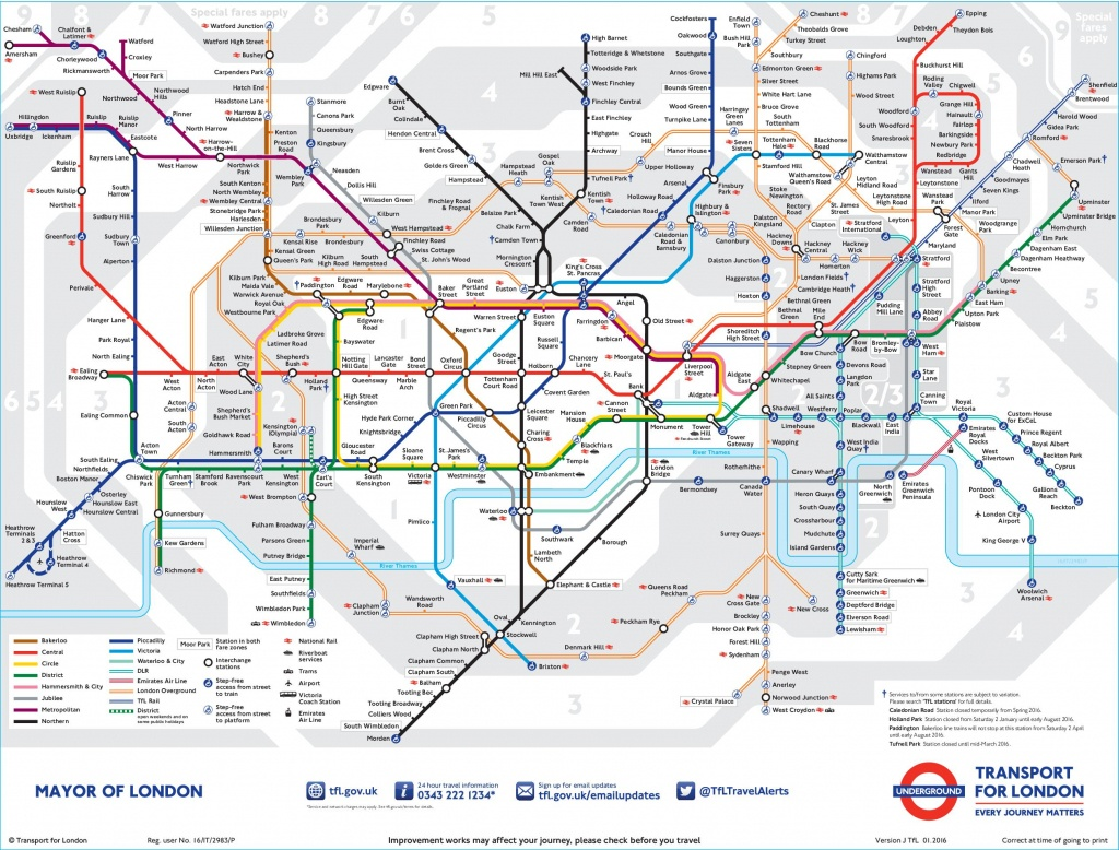 London Tube Map - Central London Tube Map Printable