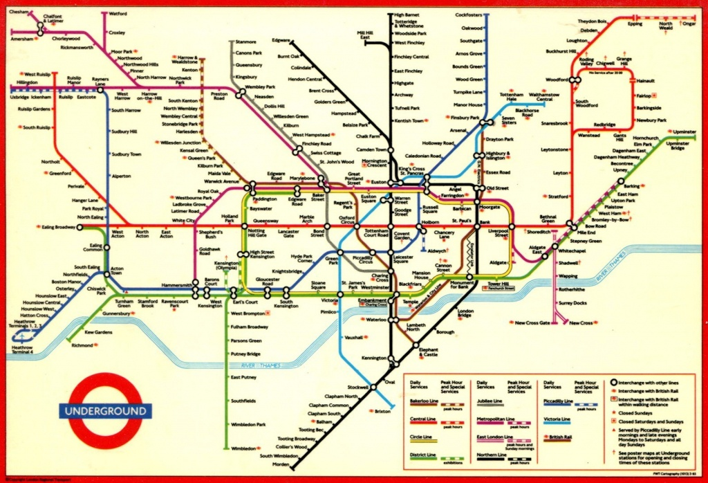 London Underground Map And Printable - Capitalsource - London Metro Map Printable