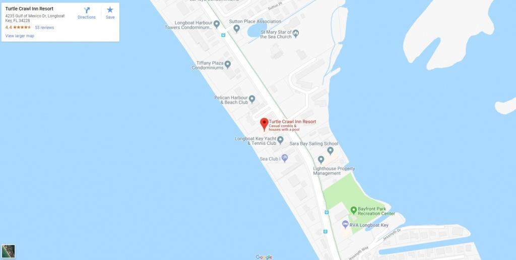 Longboat Key Vacation Rentals, Turtle Crawl Inn Resort - Casey Key Florida Map