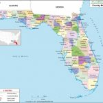 Look At The Detailed #map Of #florida #county Showing The Major   Map Of Florida Beach Towns